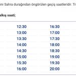 Yenisahra Havabüs Saatleri